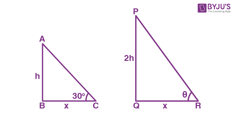 Class 10 Maths Chapter 9 Some Applications of Trigonometry MCQs 20A