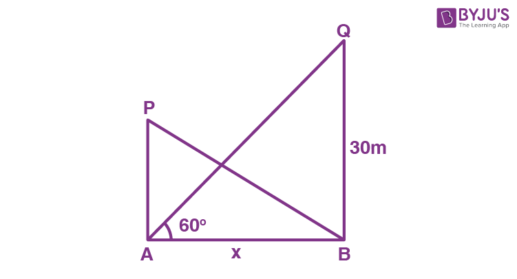 Class 10 Maths Chapter 9 Some Applications of Trigonometry MCQs 5A