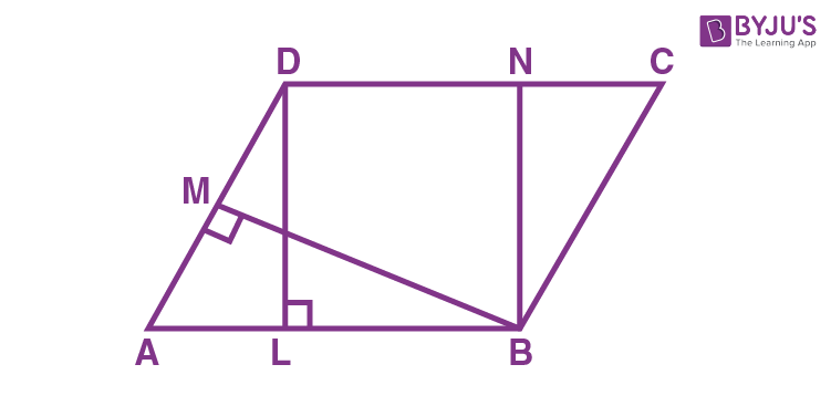 Class 9 Maths Chapter 9 Areas of Parallelogram and Triangles MCQs Example 14