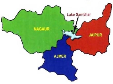 Sambhar Lake - Location