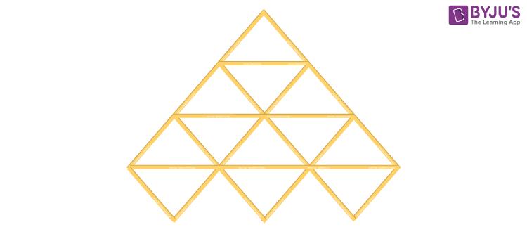 Triangle made using sticks 1