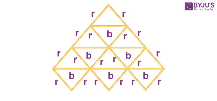 Triangle made using sticks 2