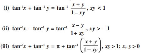 Inverse Trigonometric Functions For Class 12 properties 5