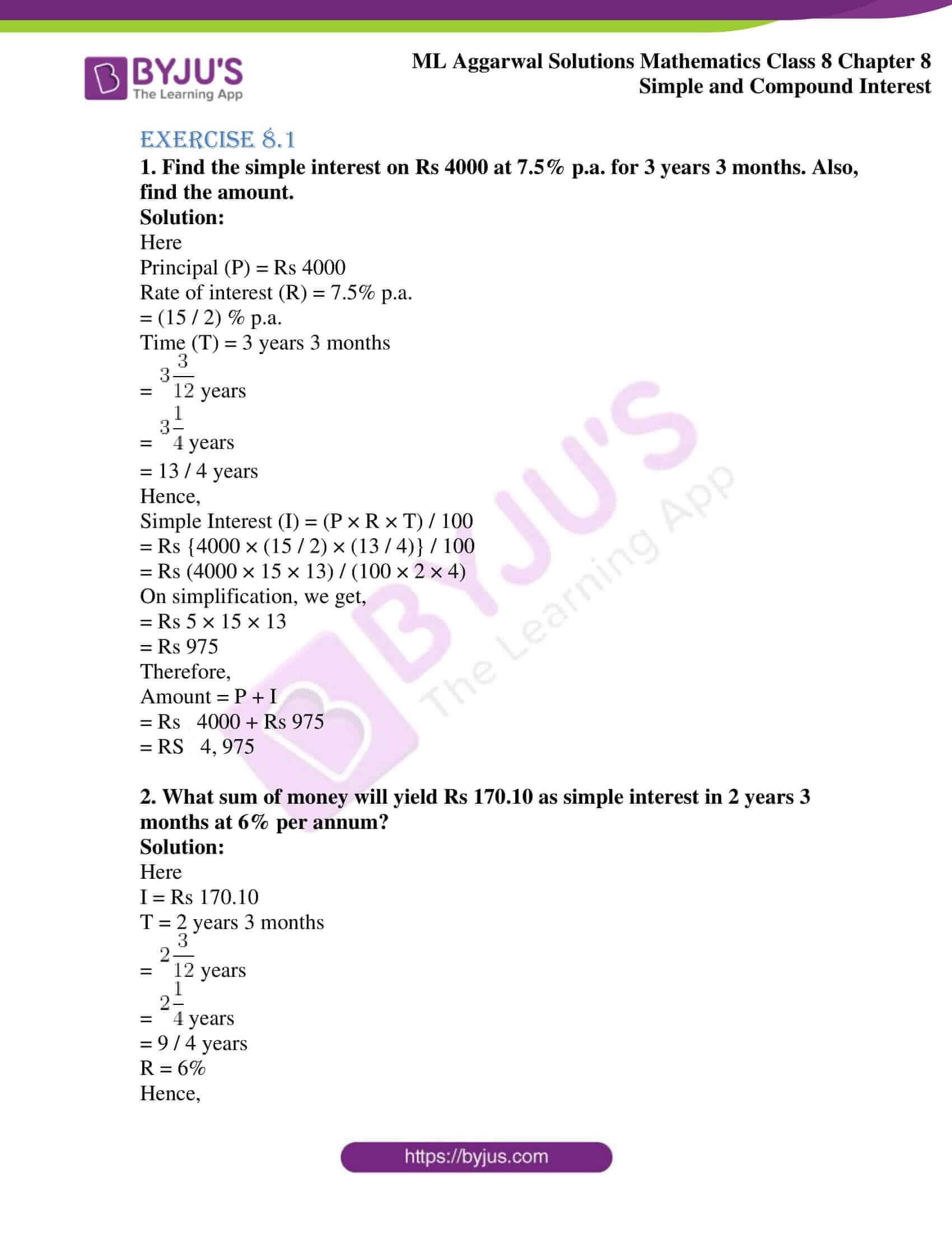 ml aggarwal sol mathematics class 8 ch 8 01
