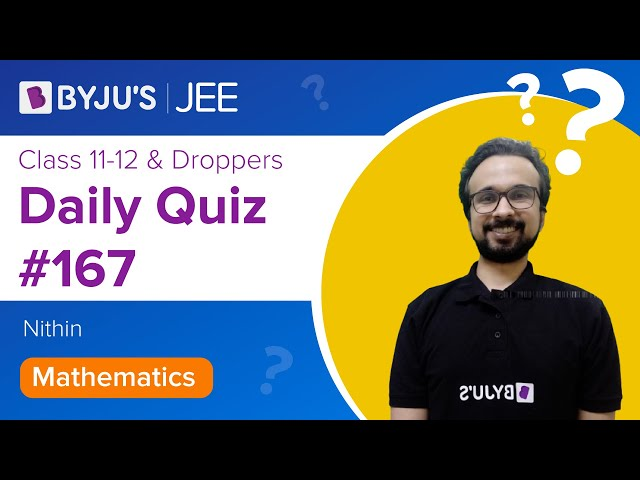 Daily Quiz 167 Maths BYJUS