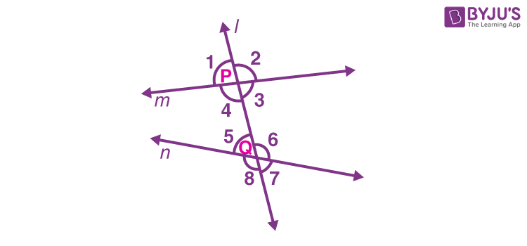 Parallel lines transversal and angles 2