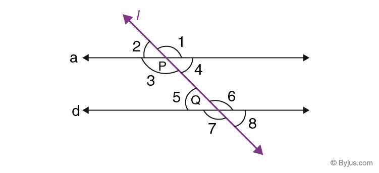 Parallel lines transversal and angles 4
