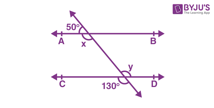 Parallel lines transversal and angles 6