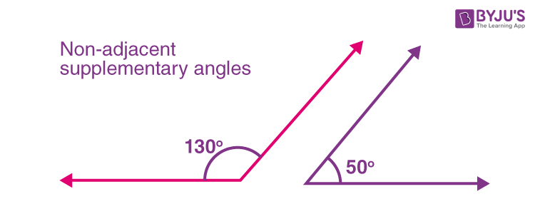 Non-adjacent supplementary angles
