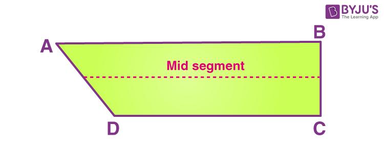 Mid segment of trapezium