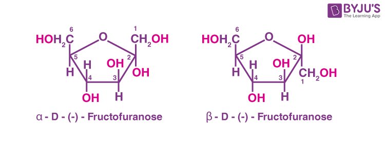 Anomers Of Fructose