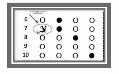 Filling OMR sheet - 1
