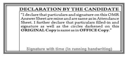 Filling OMR sheet - 6