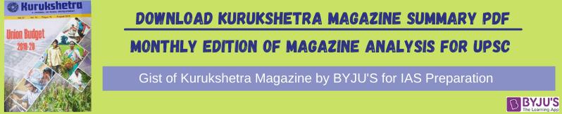 Gist of Kurukshetra Magazine - Summary of Kurukshetra Magazine PDF