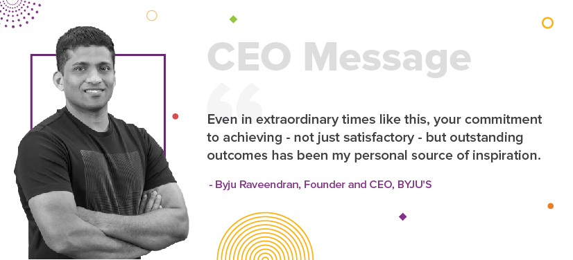 BYJU'S CEO has a message for you