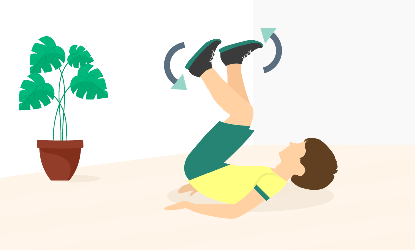 Yoga Day 2021 - bicycle exercise for kids