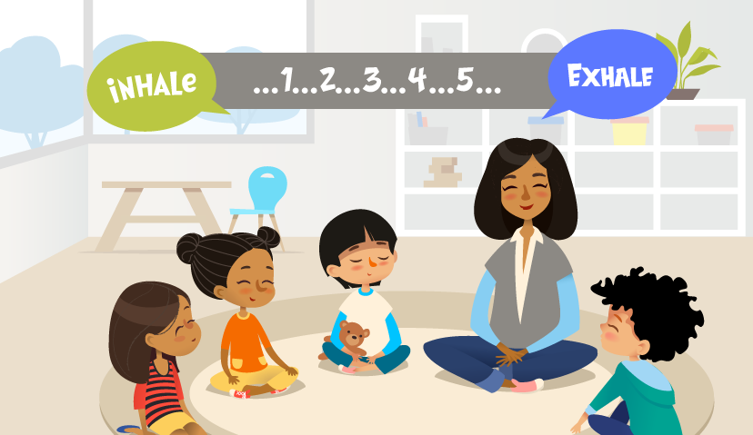 Yoga Day 2021 - breathing exercise for kids