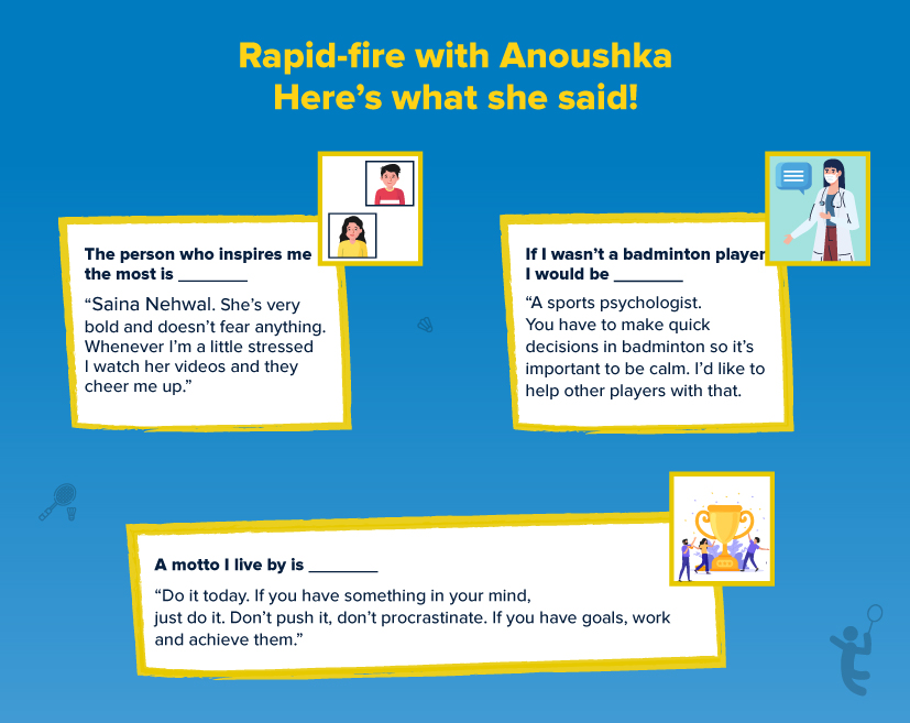 Here's what Anoushka said in her rapid-fire round!
