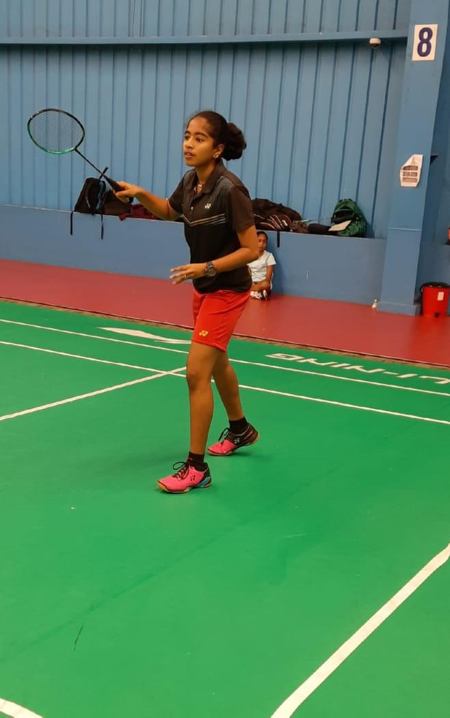 Anoushka on the court